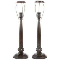 Pair of Signed Just Andersen Disko Metal Lamps