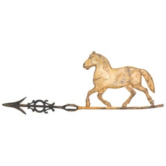 19th Century 3 Dimensional Trotting Horse Weather Vane