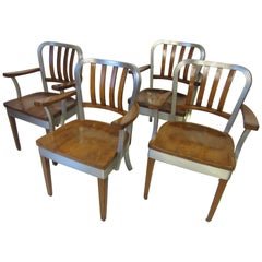 Shaw Walker Industrial Styled Dining or Office Armchairs