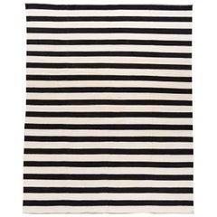 21st Century Contemporary Striped Kilim Rug