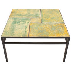 Large Ceramic and Iron Coffee Table by Max Söllner, Germany, 1950s