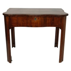 Mahogany Serpentine Writing-Dressing Table with Pullout Drawer George III, 1765