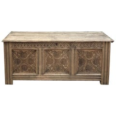 18th Century Country French Stripped Trunk