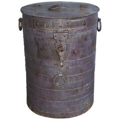 Large Rustic Grain Container