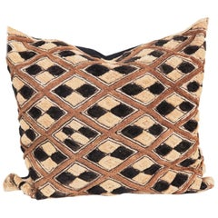 African Kuba Cloth Decorative Throw Pillow