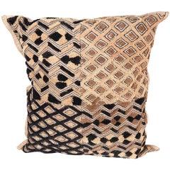 African Kuba Cloth Decorative Throw Pillow