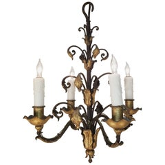 Late 18th Century Italian Wrought Iron Chandelier