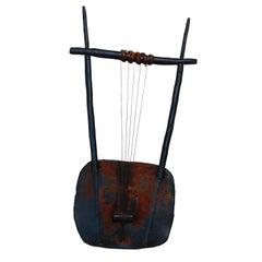 Vintage Ethiopian Krar Tribal Musical Instrument