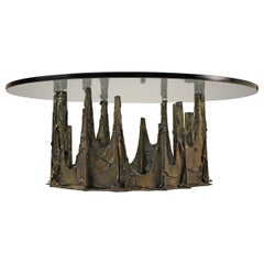 Bronze Stalagmite Coffee Table Designed by Paul Evans, circa 1972