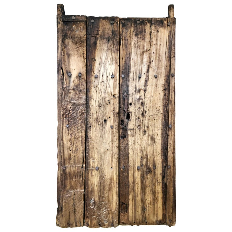 19th Century Sabino Wood Door Found in Western México For Sale