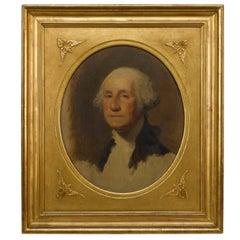 Early 20th Century Oil-on-Canvas George Washington Athenaeum Study