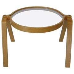 Bentwood Coffee or Side Table in the Style of Alvar Aalto