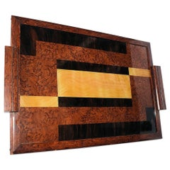 Large Original 1930s Modernist Reverse Painted Tray