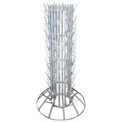 French 1960s Iron Bottle Dryer Rack Stand with 184 Rods