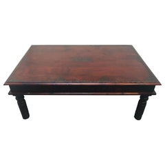 Vintage Anglo-Indian Teak Coffee Table