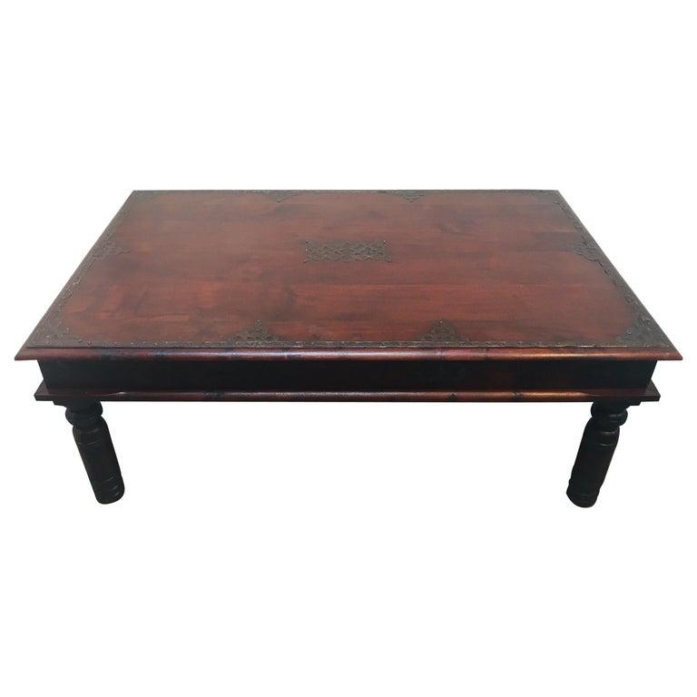 Teak Coffee Table India: Vintage Anglo-Indian Teak Coffee Table For Sale At 1stdibs