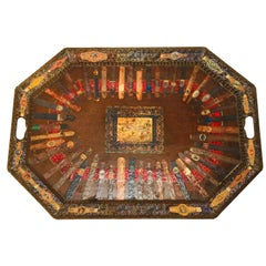 Rare Cuban Cigar Band Collection Tray by Holly Lueders for Frank McIntosh
