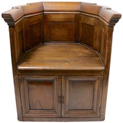 Pair of Architectural Tub Chairs with Raised Panel Construction