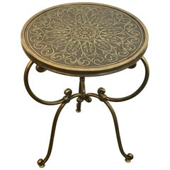 Napoleon III Style Brass Inlaid Side Table
