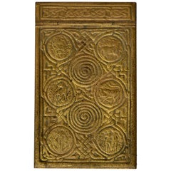 Tiffany Studios Zodiac Series Notepad Holder of Bronze Doré
