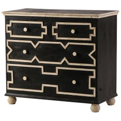 Bone Molding Trim Wood Chest Dresser Cabinet