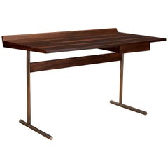 Mid Century Rosewood and Chrome Writing Desk
