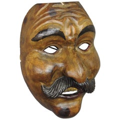 Great Antique Carved Tyrolian Carnival Fasnet Mask, circa 1930