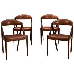Set of Four Rosewood Danish Kai Kristiansen Dining Chairs