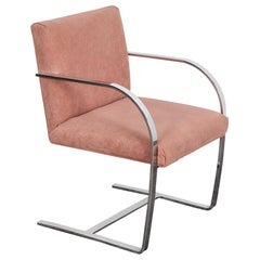 Ludwig Mies van der Rohe Brno Chair in Champagne Colored Ultra Suede