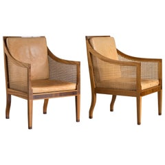 Kaare Klint Pair of Bergere Chairs for Rud. Rasmussen
