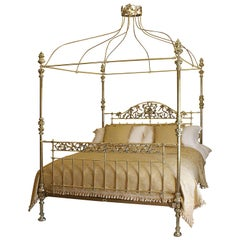 Antique Brass Four Poster Bed