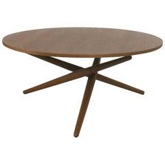 Height Adjustable ESS. TEE Teak Table by Jürg Bally for Wohnbedarf Zürich, 1950s