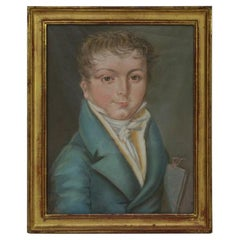 Early 19th Century, French Pastel Portrait of a Boy