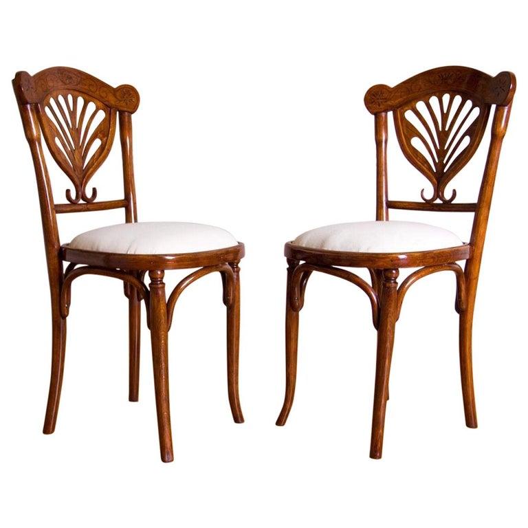 Rare Wien J&J Kohn Pair of Chairs For Sale