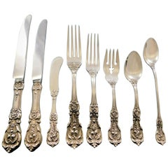 Francis I by Reed & Barton Sterling Silver Flatware Set 8 Old Mark 70 Pcs Dinner
