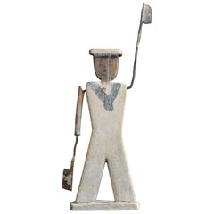 Late 19th Century Folk Art English Whirligig Sailor Figure