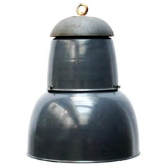Dark Navy Blue Enamel Vintage Industrial Pendant Lights (44x)