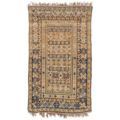 Antique Kuba Caucasian Floor Rug, Late 1800s