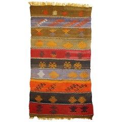 Handmade Vintage Sumak Style Kilim, 1940s, 1C608