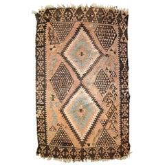 Handmade Vintage Caucasian Karabagh Kilim, 1940s, 1C609