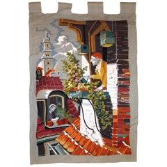 Handmade Vintage European Tapestry, 1970s, 1C610