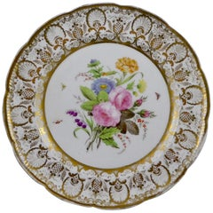 Nantgarw Porcelain Dish, Flowers and Insects, circa 1815