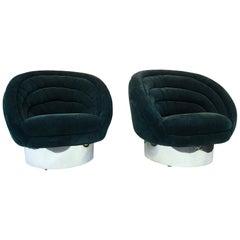 Vladimir Kagan Modern Lounge Chairs