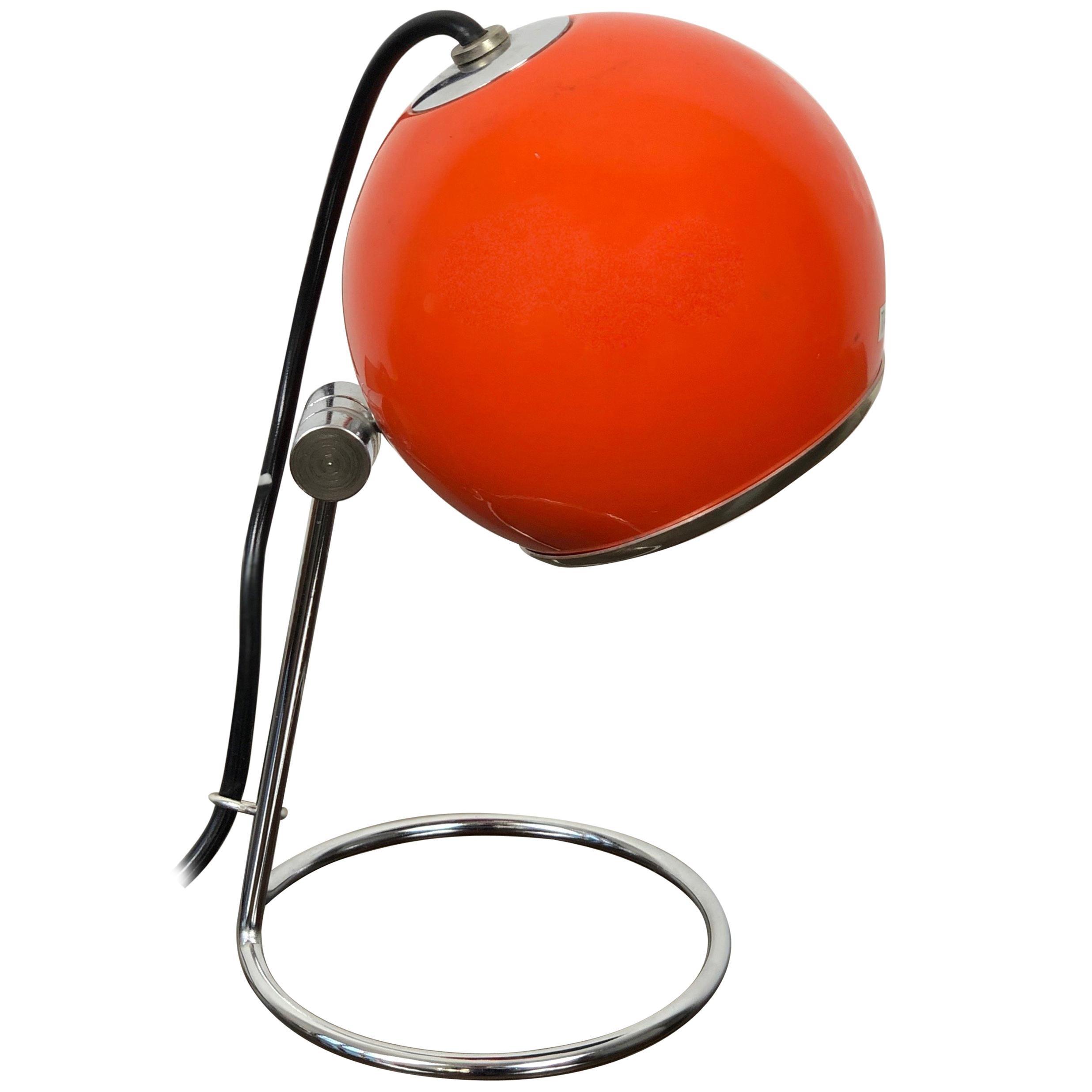 Targetti Sankey Orange Table Lamp, Italy, 1970s