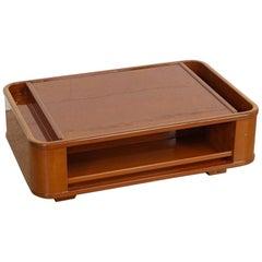 Mid-Century Modern Italian Lacquered Wood Rectangular Coffee Table, 1970s