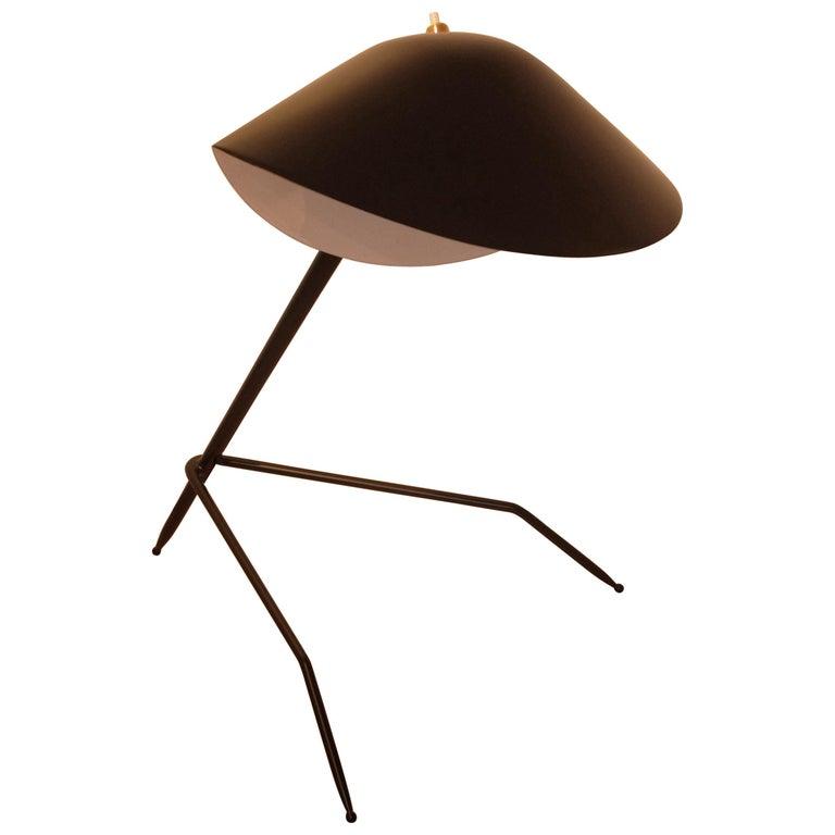 Emblamatic Serge Mouille Tripod Desk Lamp Table Lamp For Sale