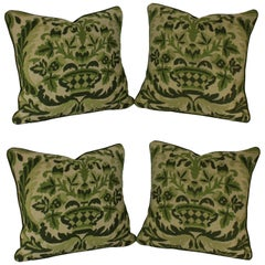 Four French Needle Point Cushions