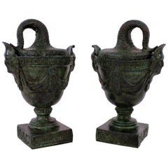 Pair of Bronze Tazzas