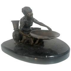 Orientalist Vienna Bronze Sculpture by Franz Xaver Bergmann 'NAM GREB' Signed