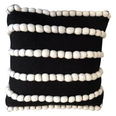 """Lido"" Black Wool Pillow by Le Lampade"